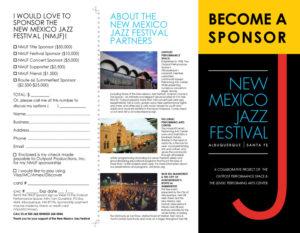 New Mexico Jazz Festival Sponsorship Brochure